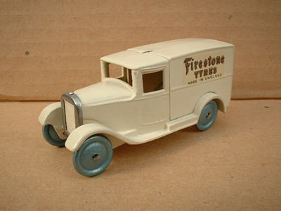 "DINKY TOYS COPY MODEL 28 SERIES TYPE 1 DELIVERY VAN ""FIRESTONE TYRES"""