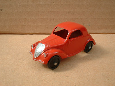 DINKY TOYS COPY MODEL 35A SIMCA 5 [ FIAT TOPOLINO ] RED